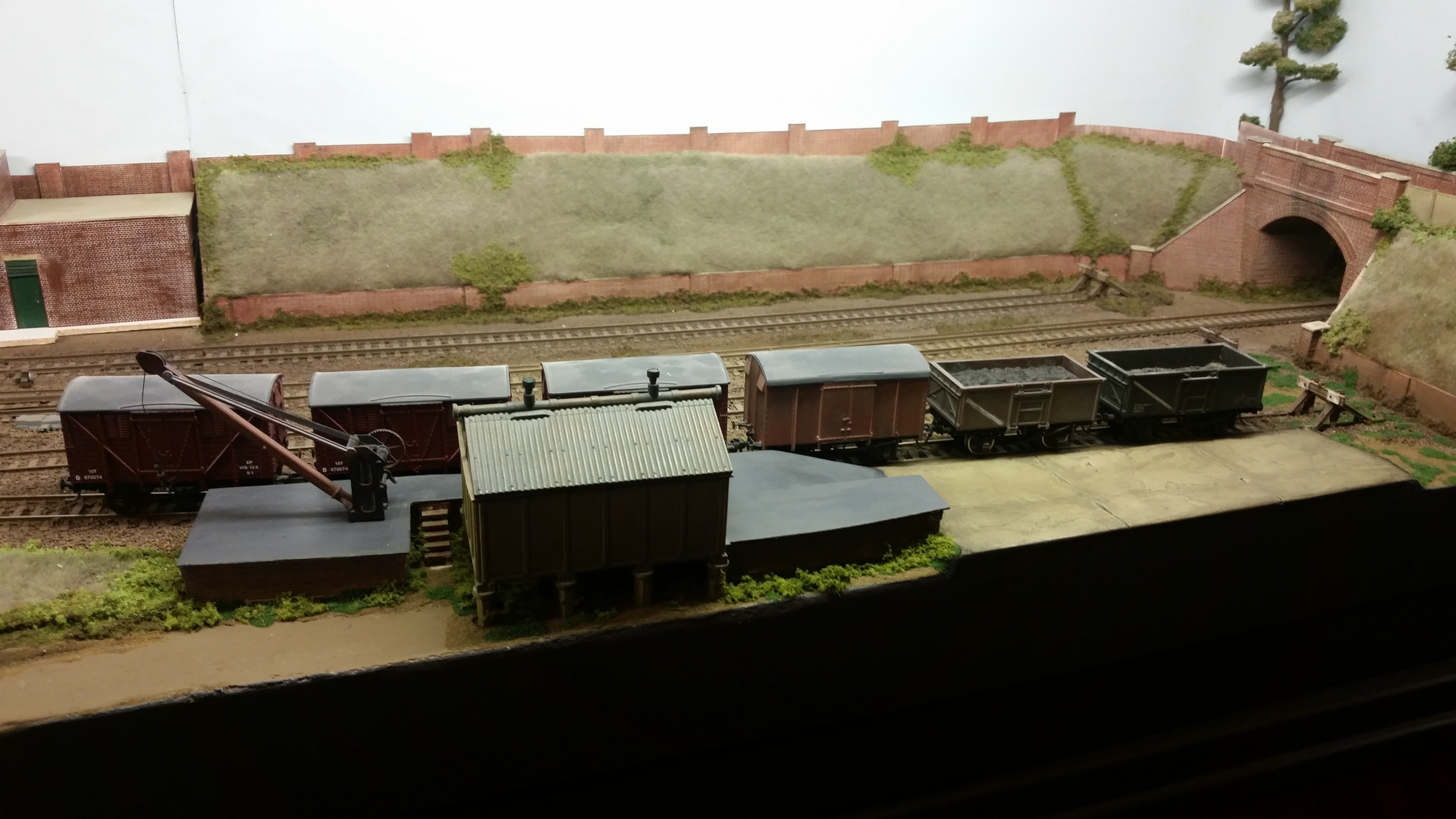 A view of the new goods yard sidings